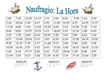 Spanish Activity to Tell Time (Naufragio)