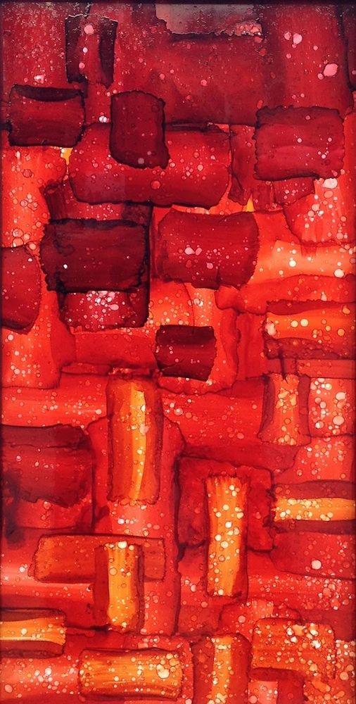 SOLD 'INTERWOVEN' by Mel Sebastian Abstract Art SOLD - ART101 Art Gallery & Framing