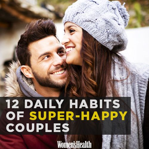 MUST READ! 12 Daily Habits of SUPER HAPPY Couples! Love this! Recognize any of these relationship-building habits? Women's Health! This is awesome! Things you should read for your love life!