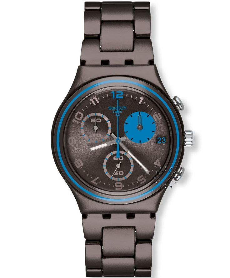 SWATCH Blauerfleck Dark Brown Aluminium Bracelet Τιμή: 135€ http://www.oroloi.gr/product_info.php?products_id=35188