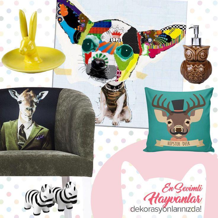 En sevimli hayvanlar dekorasyonlarınızda! #dekorazoncom >> http://www.dekorazon.com/en-sevimli-hayvanlar-dekorasyonlarinizda?utm_source=pinterest&utm_medium=post&utm_content=en-sevimli-hayvanlar-dekorasyonlarinizda