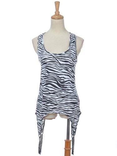 Anna-Kaci S/M Fit Black White Zebra Animal Print « Impulse Clothes
