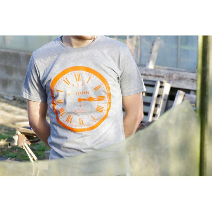 Doxa Clothing 'The Clock' ORGANIC tee (Grey/Orange)