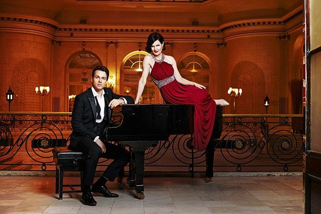 Julian Ovenden with Elizabeth McGovern both appear on the Christmas with Downton album