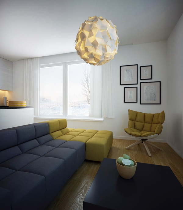 Living room - private apartment by Altro Studio Projektowanie wnętrz Barba , via Behance