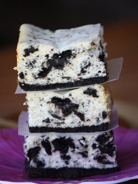 Cookies and Cream Cheesecake Bars...HEAVEN