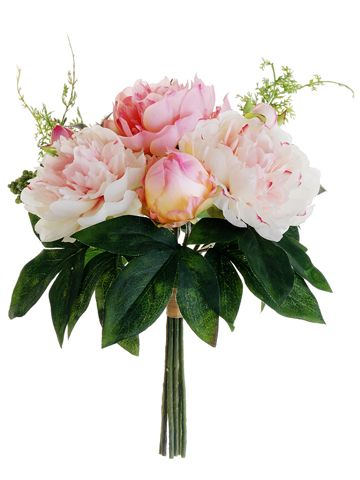 Silk Peony Bridal Bouquets | Wedding Bouquets| Afloral.com Satisfaction Guaranteed $10.79