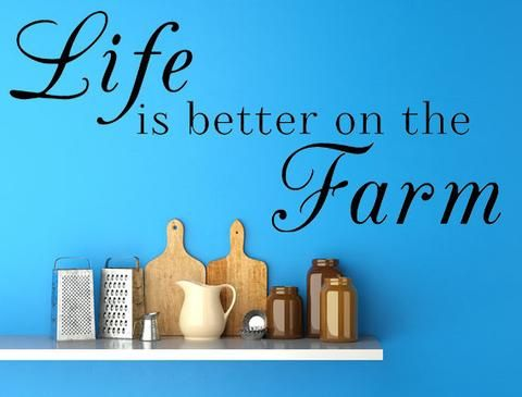 Life Is Better On The Farm Vinyl Wall Decal Farm Decal Farm Sayings Country Life Vinyl Wall Art Custom Orders Custom Vinyl Decals Custom Art - Inspirational Wall Signs