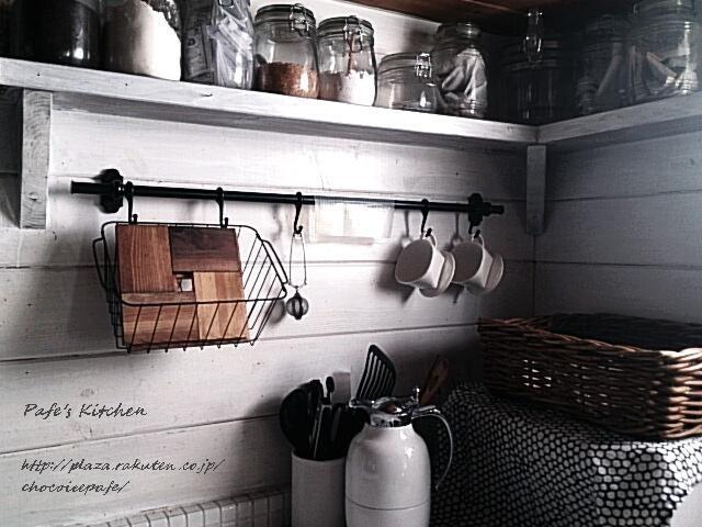 北欧 ナチュラル キッチン セリアガラス保存容器 IKEAバスケット ドイツ アルフィーポット