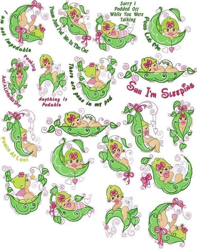 Sweetpea Baby Girls Machine Embroidery Designs   eBay