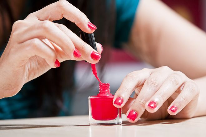 5 Tricks the Pros Use to Make Their Nails Dry Faster | As someone who has a standing DIY mani appointment on her couch every Sunday, I know the peril of finishing what looks to be a perfect paint job, and then ruining it with the slightest move. Sure there are products that help fix an innocent smudge, but let's face it, that one nail never looks quite the same. Here, two top experts spill their tricks for speeding up your dry time to avoid messing up your just-polished nails.