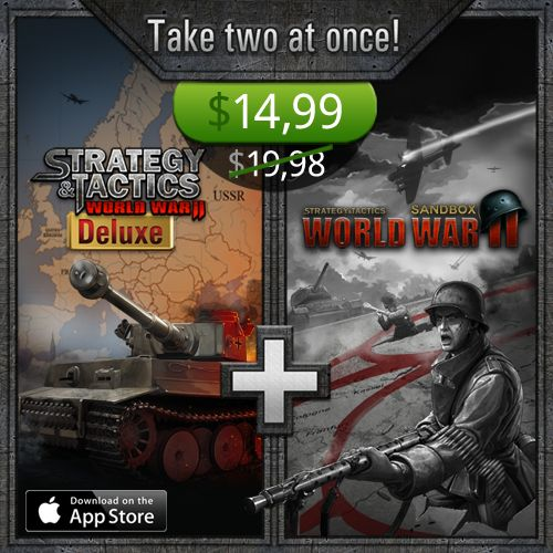 Deluxe version and the unrestricted sequel are in our cool bundle! Don't think too long - take two at once! The fate of the world is in your hands! App Store http://bit.ly/ST-Bundle