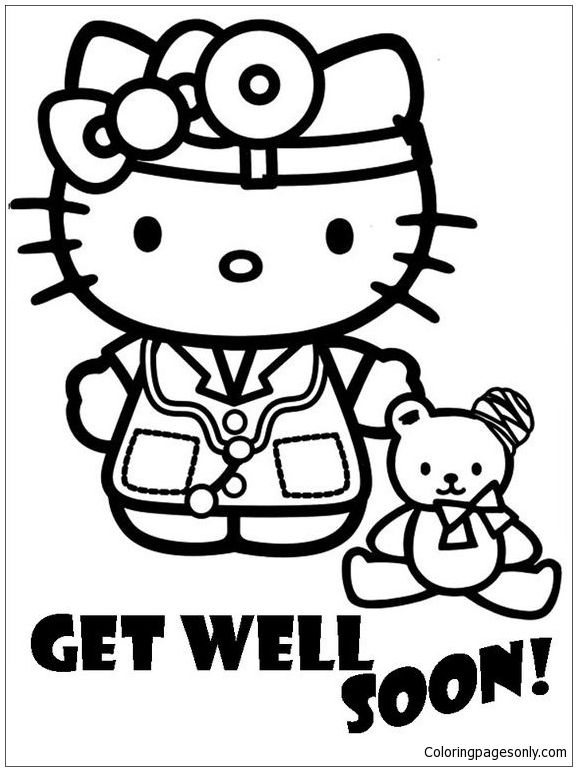 Cute Hello Doctor Coloring Page Free Coloring Pages Online Hello Kitty Colouring Pages Hello Kitty Coloring Kitty Coloring