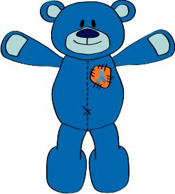 Meet Foggy - the spokesbear for Make ME's 'Hug ME' campaign!    Creating handmade cuddlies for charity!