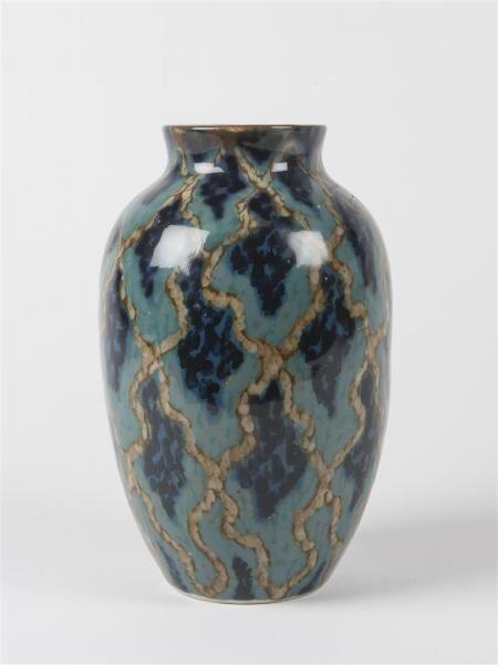 Camille THARAUD Limoges Vase en porcelaine émaillée Signé Marque du décorateur MVL