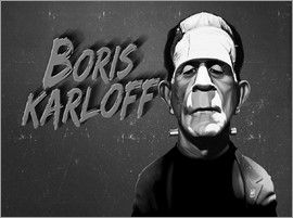 Rob Snow | caricatures - Boris Karloff art | decor | wall art | inspiration | caricatures | home decor | idea | humor | gifts