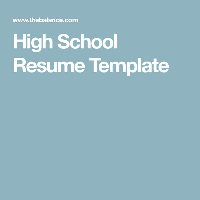The 25+ best High school resume ideas on Pinterest High school - high school student resume template download