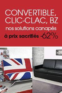Si vous hésitez entre un canapé convertible et un clic clac/bz, il y a de belles affaires à faire chez Mistergooddeal.com!!
