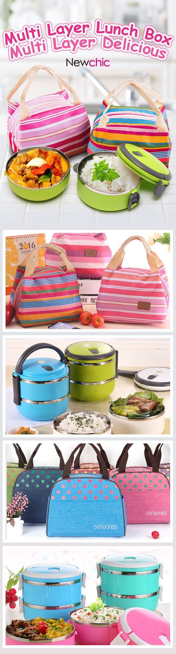 Lunch bags and lunch boxes product select at Newchic.com