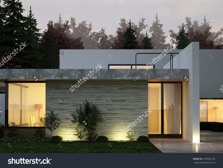 stock-photo-a-d-rendering-of-modern-house-facade-at-night-129950105.jpg (1500×1133)