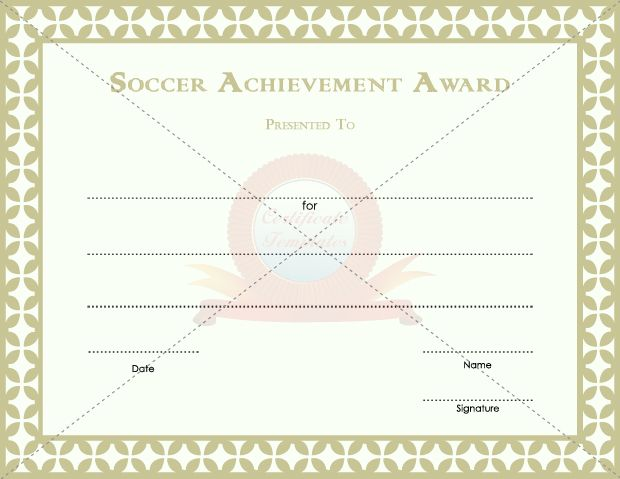 soccer certificate templates - 11 best soccer achievement award templates images on
