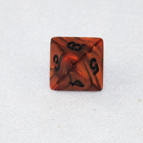 Pearlized Bronze and Black 8 Sided Dice