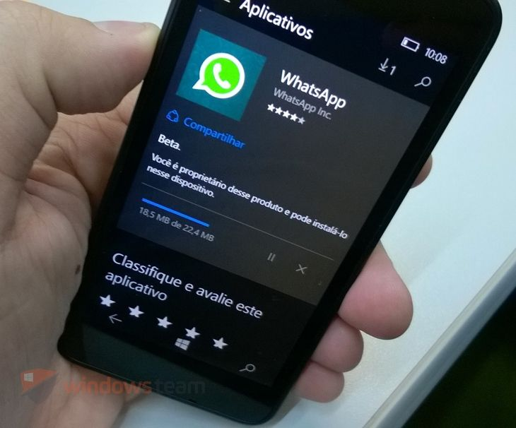 Nova atualização para o Whatsapp Beta dá passo para trás... | Windows Team - EExpoNews