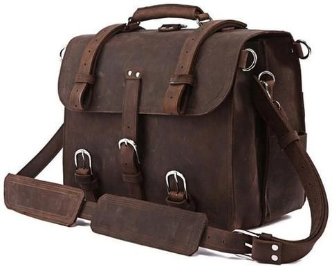 HOL Dark Chocolate All-Purpose Leather Briefcase – Men's Premier Bags – Get your 10% for last minute holiday shopping! Sale ends soon..