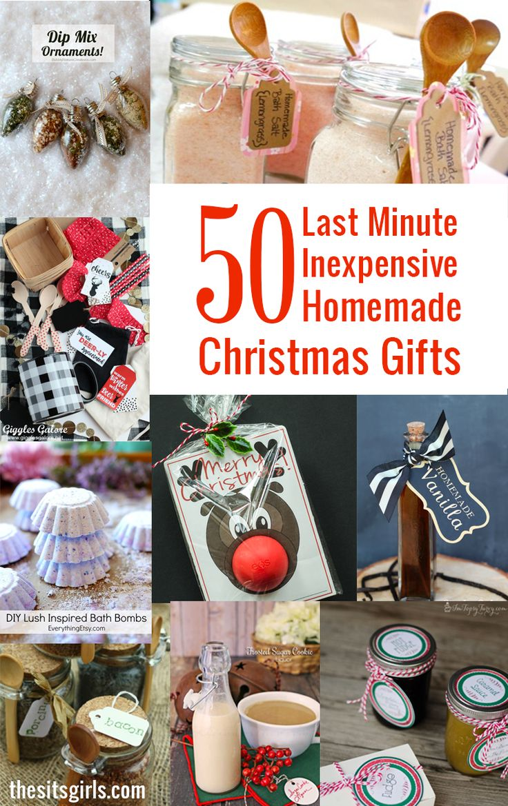 The ultimate list of homemade Christmas gifts! All 50 projects are inexpensive and easy to make!