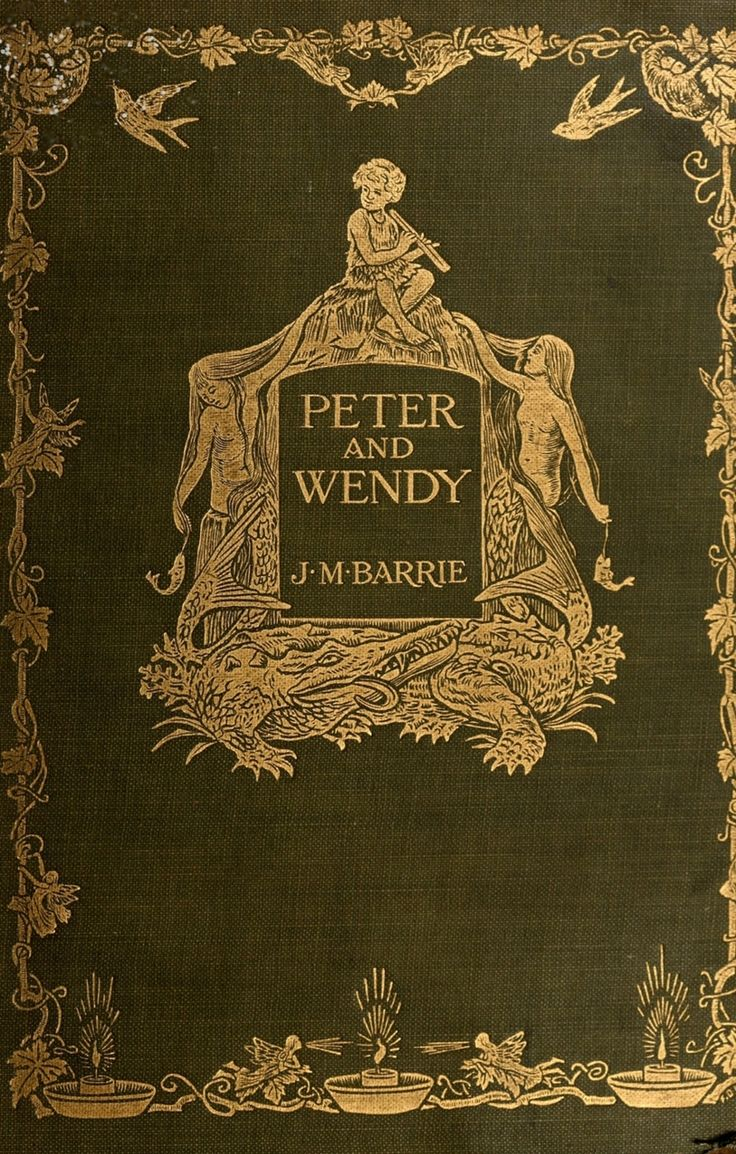 Book Cover By Francis Donkin Bedford ~ 'peter And Wendy', By J M Barrie ~  1911