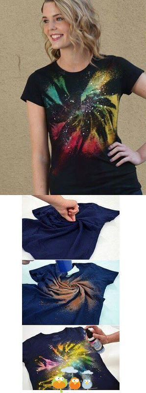 spray paint shirt DIY