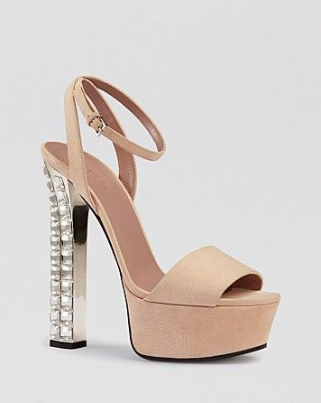 gucci leila crystal high heel peach flower platform evening sandals 1 put on my feet. Black Bedroom Furniture Sets. Home Design Ideas