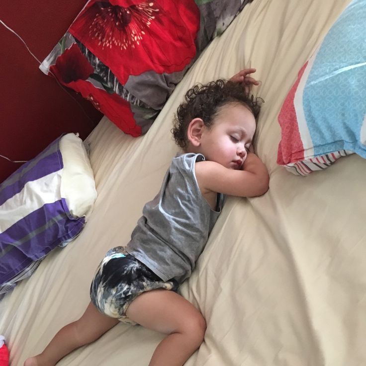 Sleeping bubba in our tiedie bloomer shorts