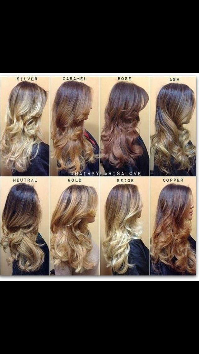 Shades of Ombré and Balyage