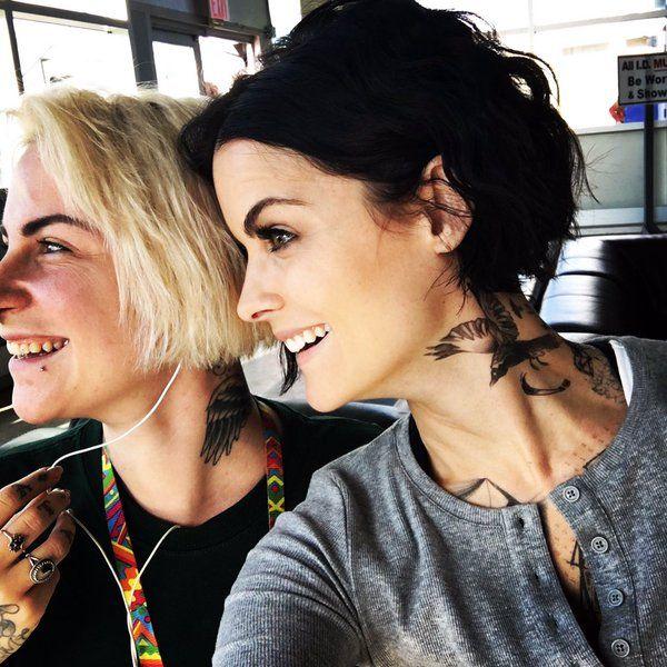 e4075cbf5cbfd neck tattoo from blind spot - Google Search   Hair   Jamie alexander hair, Jaimie  alexander, Short hair styles