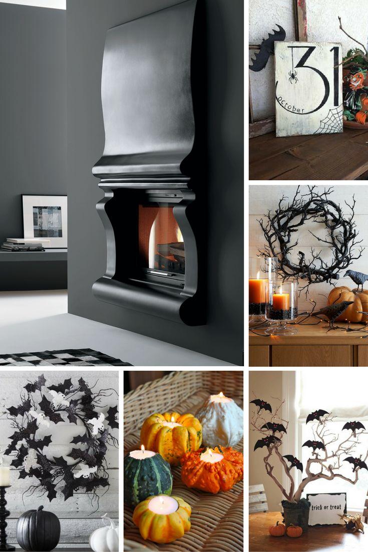 Qualche idea fai da te per decorare l'area attorno al caminetto a tema Halloween! - Some inspirations to decor your fireplace area in a stylish and creative way for Halloween!