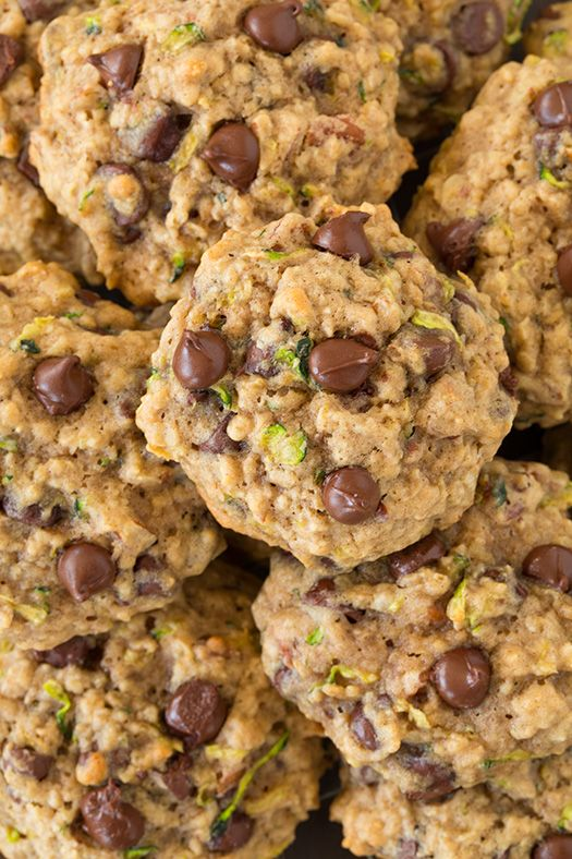 Zucchini Oat Chocolate Chip Cookies | Cooking Classy @cookingclassy