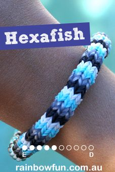 Hexafish Rainbow Loom Bracelet Tutorial (on the Monster Tail)