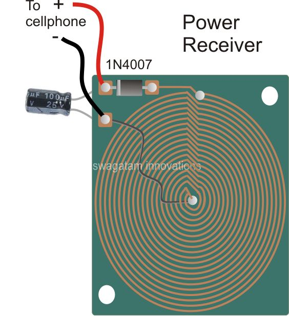 Wireless Cellphone Charger Circuit | Homemade Circuit Projects