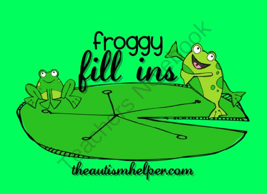 Froggy Fill Ins puzzles and games to work on teaching verbal responses from The Autism Helper on TeachersNotebook.com -  (29 pages)  - Great for children with autism to teach independent verbal responding! Work on finishing common phrases, identifying objects based on function, and categorizing - all in a fun frog theme!