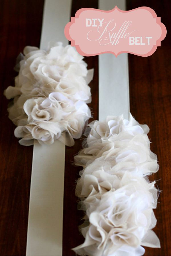 DIY, Do It Yourself, Craft, Wedding, Favours, Tutorial, Ruffles, DIY Ruffles, Wedding Ruffles, Ruffle Craft Projects, Ruffle Pom Pom, Fabric Pom Pom, Ruffle Belt, Ruffle Necklace, Ruffle Shoes (2)