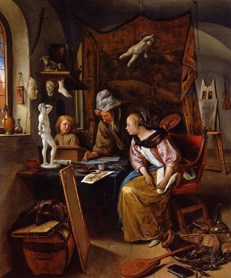 Jan Steen. The Drawing Lesson.