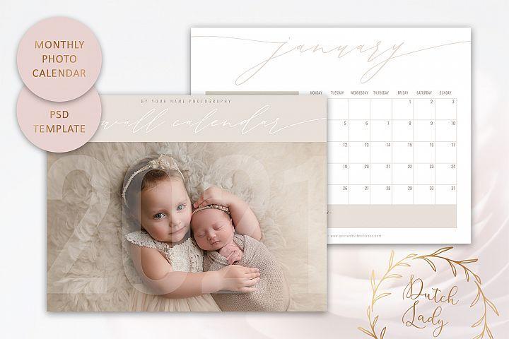 Psd Photo Calendar 2021 Adobe Photoshop Template 3 In 2020