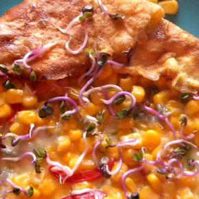 Pentru un mic dejun sănătos și sățios, îți recomand omleta cu porumb, foarte ușor de pregătit, atât pentru cei mari, cât și pentru cei mici.