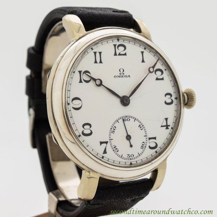 1931 Vintage Omega Pocket Watch Conversion To Wrist Watch Nickle