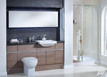 28 best bathroom furniture images on pinterest bathroom for Small fitted bathrooms