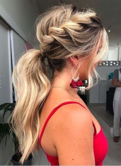 Prom Hairstyles For Women 2019  #hairstyles #women