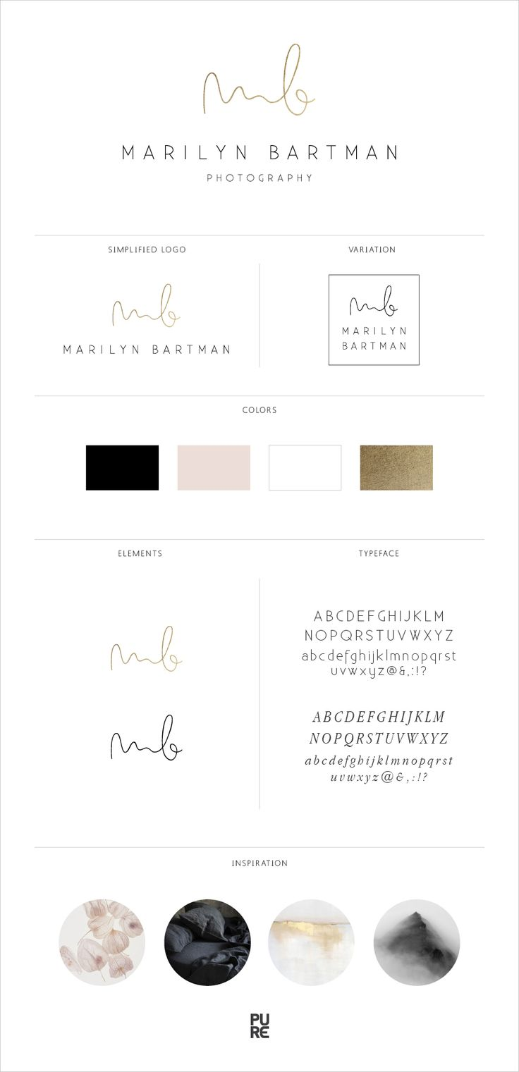 Branding: Marilyn Bartman Photography | Brand design by PURE Art & Design
