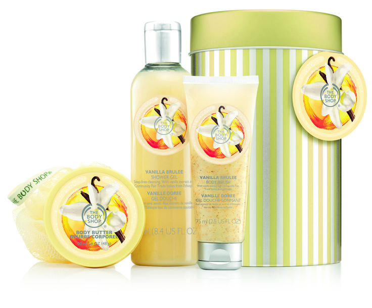 The Body Shop, 1. krs. Vanilla Brulée tube of treasures -lahjapaketti, 29,50 €.