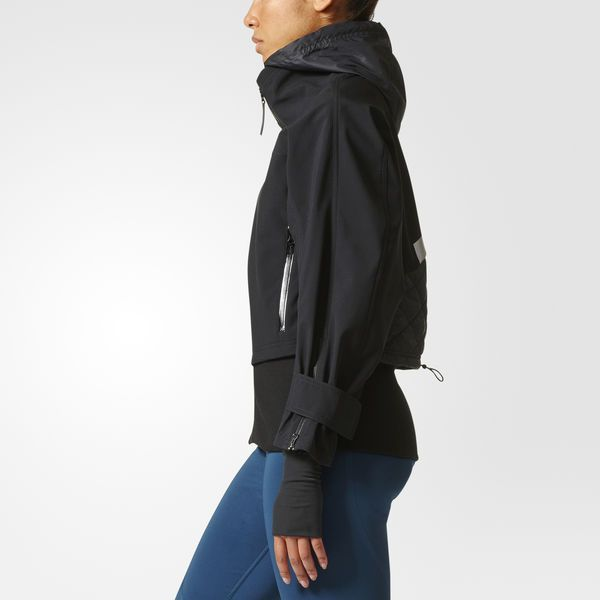5eb6a8b33457 Keep your pace through wet weather in this adidas by Stella McCartney Run Trail  Soft Shell